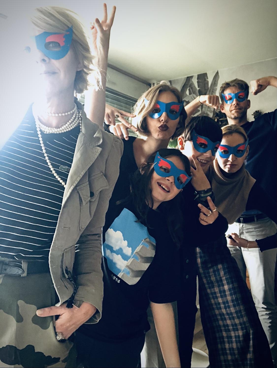 photo famille super heros